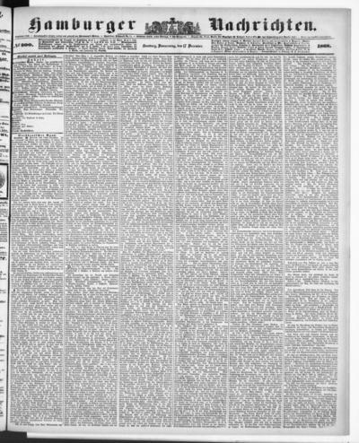 Image from object titled Hamburger Nachrichten - 1868-12-17