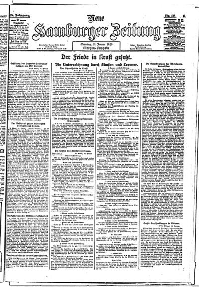 Image from object titled Neue Hamburger Zeitung - 1920-01-11