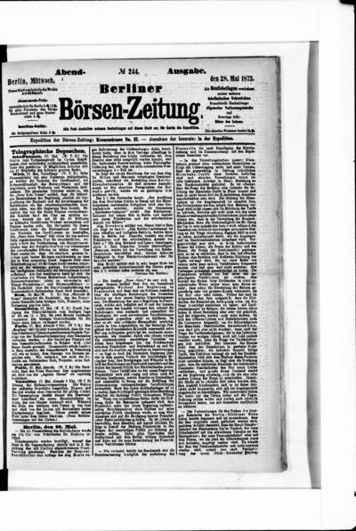 Berliner Börsenzeitung - 1873-05-28