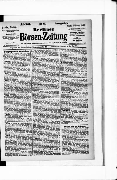 Berliner Börsenzeitung - 1873-02-17