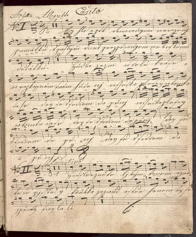 IV Pastorely neb wánočnj Cžeské zpěwy pro Canto, Alto. Violini Duae Alto Viola Clarinetti Duae Corni Duae et Organo. Ryba. Wenzl Trojan mpria 28/9 1827
