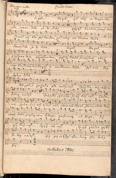 Pastorale Offertorium Bohemica in D a Violino Imo et IIdo Canto Imo et IIdo con Basso. et Organo Ex musicalibus Josephi Strachota.