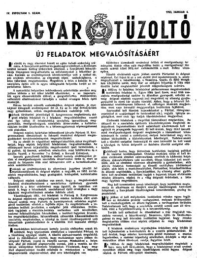 Magyar Tűzoltó 1952.