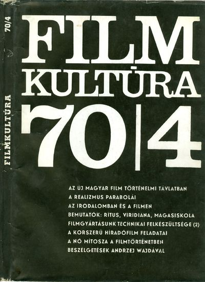 Filmkultúra 1970/4. szám