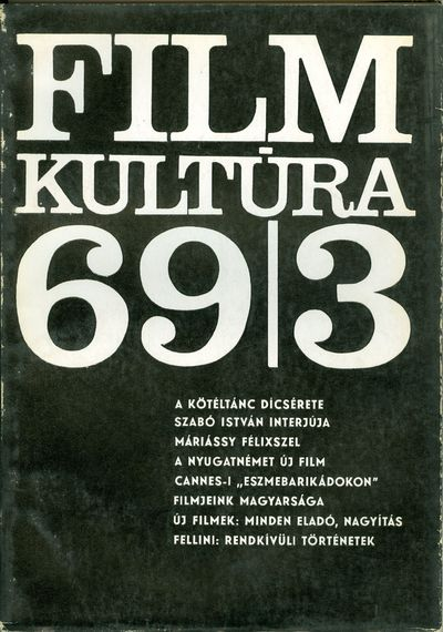 Filmkultúra 1969/3. szám