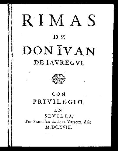 Rimas de Don Iuan de Iauregui