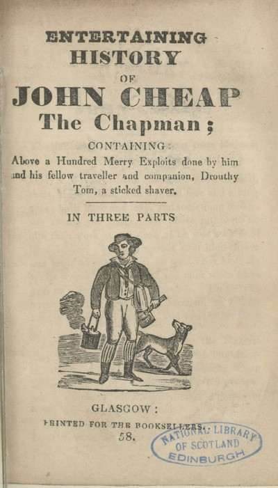Image from object titled Entertaining history of John Cheap the Chapman