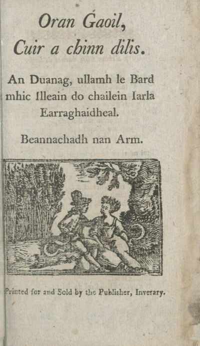 Image from object titled Oran gaoil, Cuir a chinn dilis
