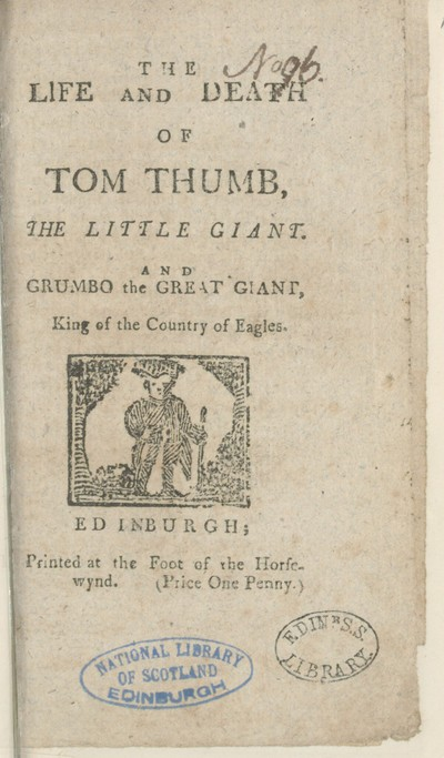 Image from object titled Life and death of Tom Thumb, the little giant