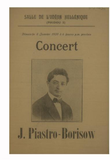 Concert J. Piastro-Borisow