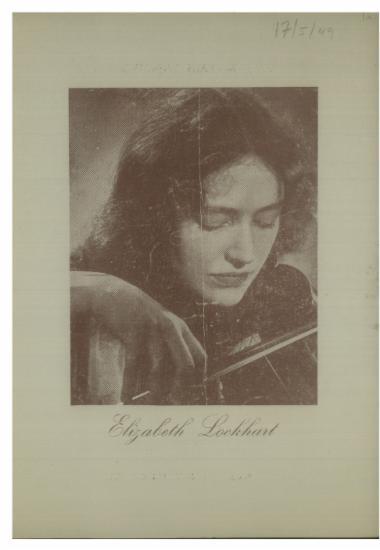 Η αγγλίς βιολονίστρια  Elizabeth Lockhart : 24η συναυλία συνδρομητών