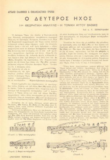 [Άρθρο] Αρχαίοι ελληνικοί και εκκλησιαστικοί τρόποι: ο δεύτερος ήχος: 1ον θεωρητική ανάλυσις-η τονική αυτού βαθμίς