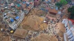 Népal : la catastrophe vue d'un drone