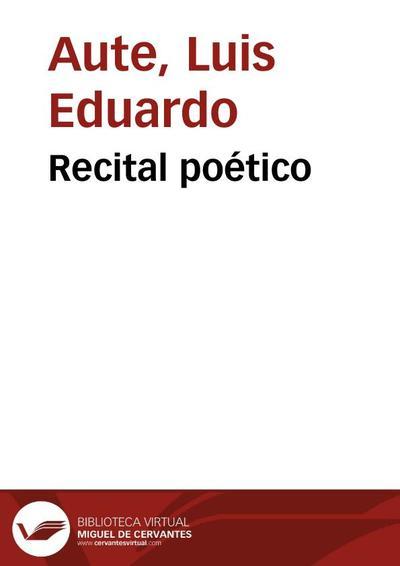 Recital poético