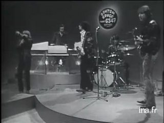 The Yardbirds sur le plateau de Bouton Rouge