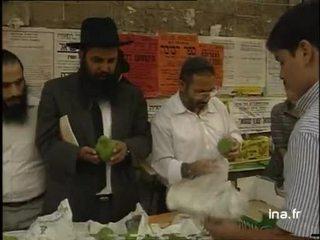 Choix des Quatre espèces sur le marché de Jérusalem