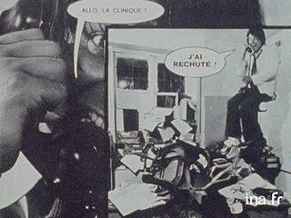 """Wolinski, Choron et Gébé auteurs de romans photos pour """"Hara kiri"""""""