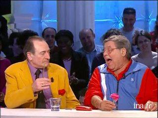 Pierre Etaix et Jerry Lewis en plateau
