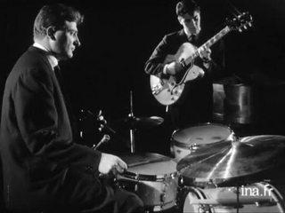 "Sacha Distel, René Urtreger, Paul Rovère, Jean Louis Viale ""Django"""