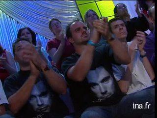 Jean Michel Jarre sur le concert