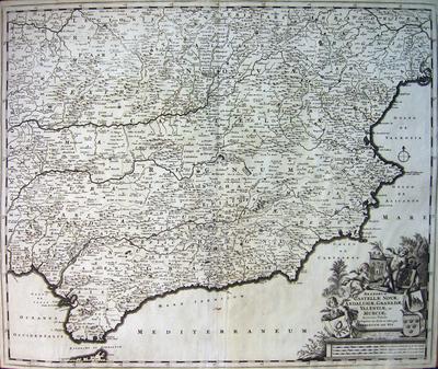 Regnorum Castellae Novae, Andalusiae, Granadae Valentiae, et Murciae Accurata Tabula