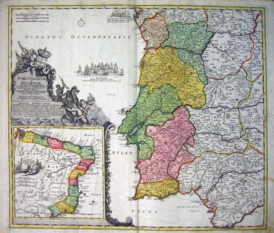 Portugalliae et Algarbiae cum finitimis Hispaniae Regnis Castillae...