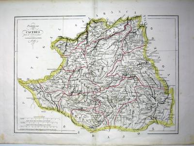 Provincia de Cáceres parte de Estremadura