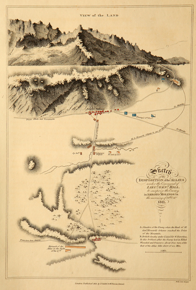 Sketch of the Disposition of the Allies under the command of Lieut. Genl. Hill to surprize the Enemy