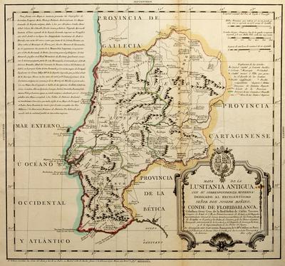 Mapa de la Lusitania Antigua, con su correspondencia moderna...