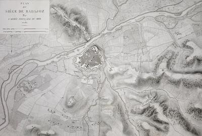 Plan du Siége de Badajoz Par l´Armée Française Du Midi en 1811