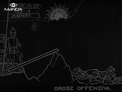 HARCTÉRI KARIKATÚRÁK [Archive title]