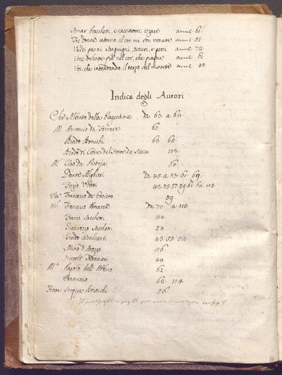 Vita di Dante scritta dal Boccaccio, Vita Nuova di Dante, rime di diversi e altro