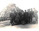 Фотография – воины на крыше у купола Рейхстага, 1945 год.