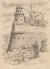 Фронтовой рисунок «Дубенская крепость. 6 гвардейский кавалерийский корпус»