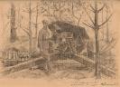 Фронтовой рисунок «Гаубица на огневой позиции»