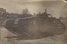 Фотография трофейного английского тяжелого танка MkV, выпуска 1917г.