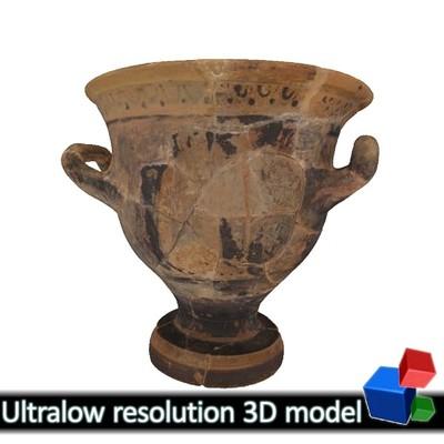 Μικρός πήλινος κρατήρας - Μουσείο Αβδήρων ΜΑ 6366 (3Δ)