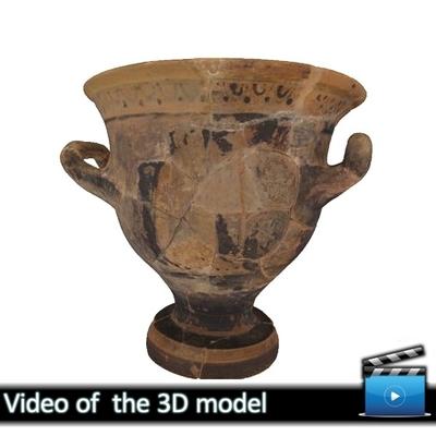 Μικρός πήλινος κρατήρας - Μουσείο Αβδήρων ΜΑ 6366 (VIDEO)