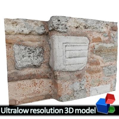 Monastery of Panagia Kosmosotira - Second use Marble (3D)
