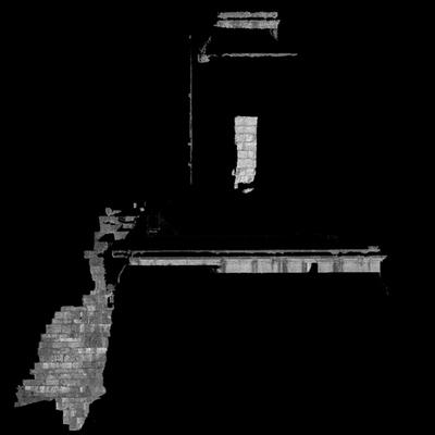 Orthophotographie de la façade ouest 2 du trophée des Alpes (la Turbie)