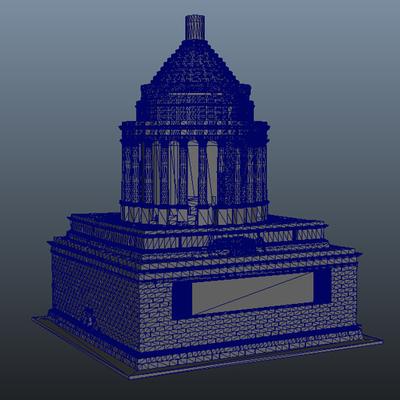 Modèle 3D texturé 1 de l'état initial du trophée des Alpes (la Turbie)