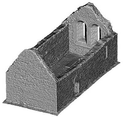 Temple Melaghlin, Clonmacnoise (3D model, untextured)