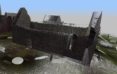 Temple Melaghlin, Clonmacnoise (High resolution 3D point cloud model)