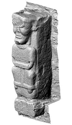 Early Christian Carved Figure 2, White Island (3D Model)
