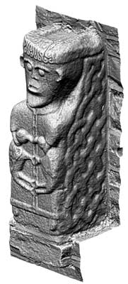 Early Christian Carved Figure 5, White Island (3D Model)