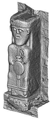 Early Christian Carved Figure 6, White Island (3D Model)