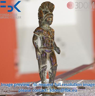 Bronzetto di guerriero o Marte - Image