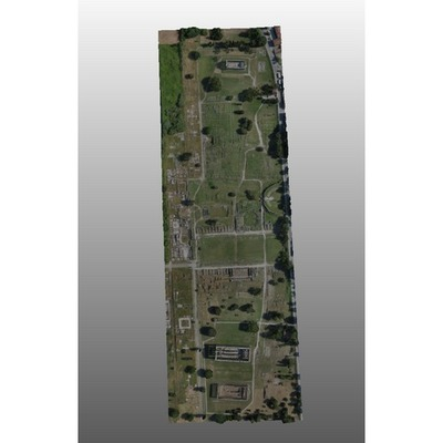 Archaeological site Paestum - 3D