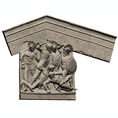 Architectural plaque from the temple at Pyrgi - 3D