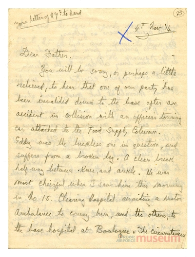 04.11.1914 - Bernards Bruder verletzt